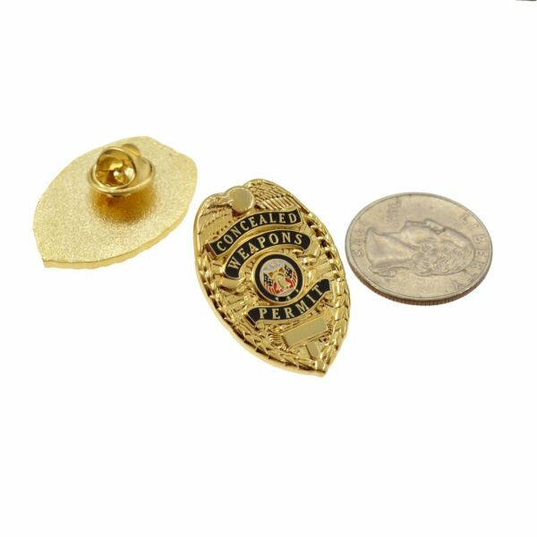 Concealed weapons badge lapel pin