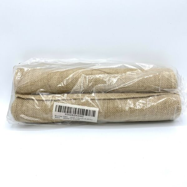 Burlap Table Runner 12 Inch Wide x 72 Inch Long 2 PC Burlap Fabric Roll No Fray