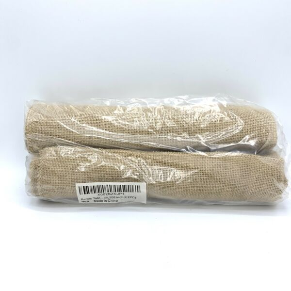 Burlap Table Runner 12 Inch Wide x 108 Inch Long 2 PC Burlap Fabric Roll No Fray