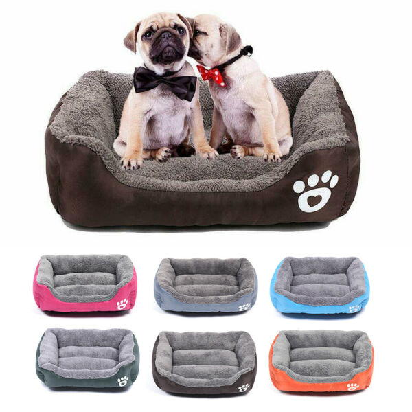 Pet Dog Cat Bed Puppy Cushion House Pet Soft Warm Kennel Dog Mat Blanket Home $13.98
