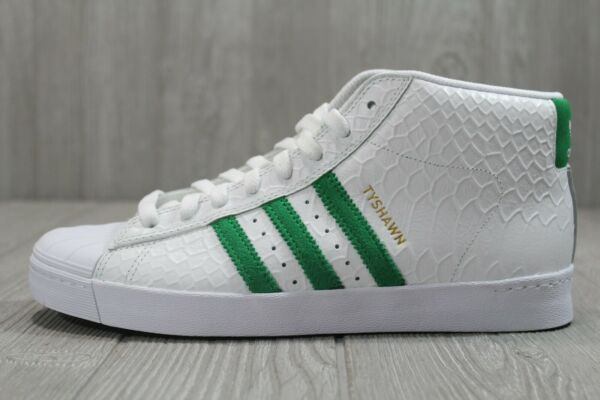 52 Mens adidas Pro Model Vulc Adv Tyshawn Jones White Green Shoes 8 11 CG4274