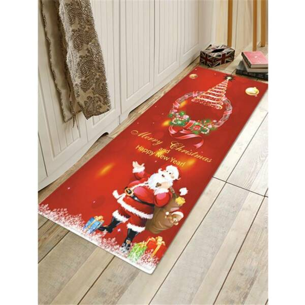 Bedroom Doormat Carpet Home Holiday Supplies Christmas Absorbent Floor Mat LP
