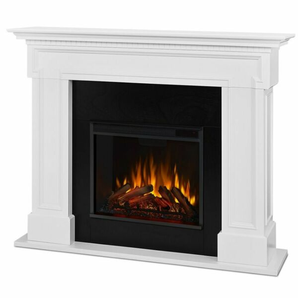 Real Flame Thayer Electric Fireplace in White
