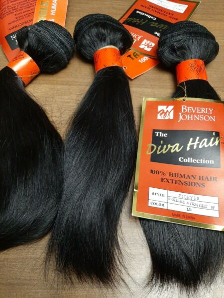 Beverly johnson 100%Human hair  Lot Of 3 Silky 10 Stright  W Color 1B