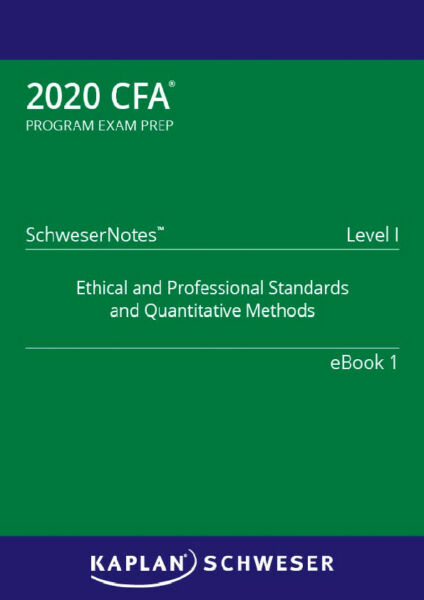 CFA 2020 - Level 1 SchweserNotes Book 1-5 🔥FAST DELIVERY🔥 [P.D.F°]