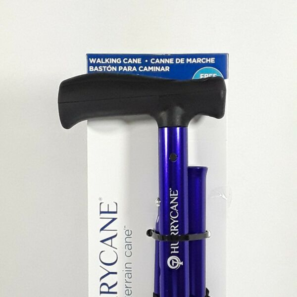 Drive Medical HurryCane Freedom Edition Folding Cane with T Handle Purple