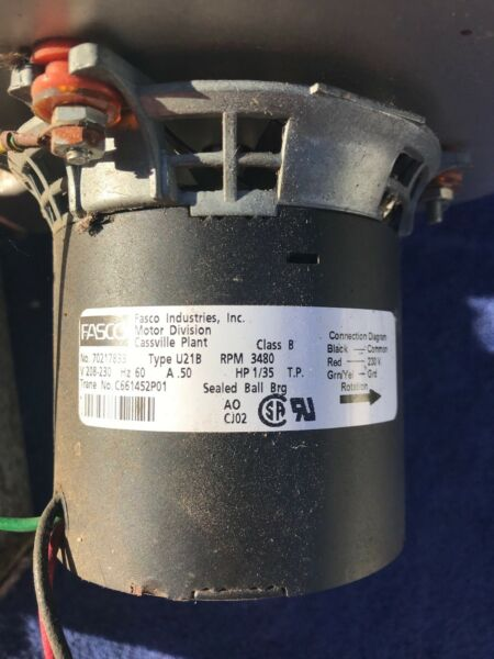 FASCO 7021-7833 Draft Inducer Blower Motor Assembly Trane # C661452P01 used