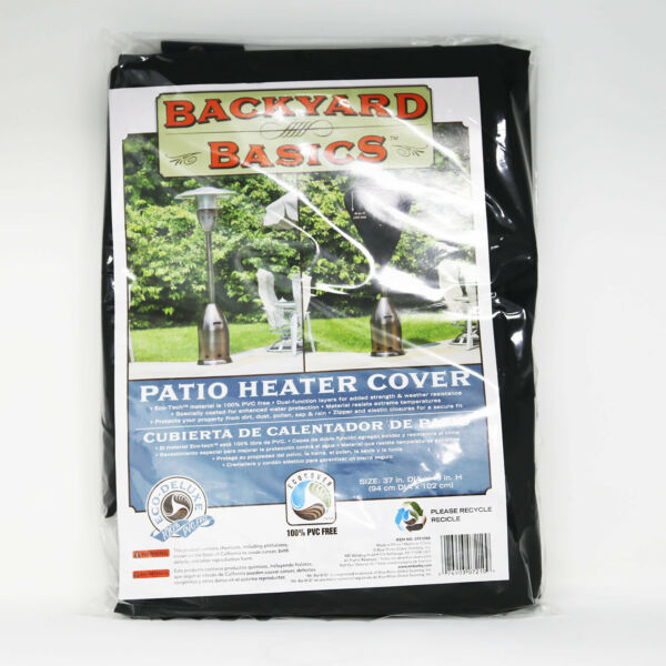 Patio Heater Cover Backyard Basics Outdoor Equipment 07210GDBB Black NEW