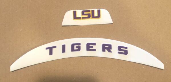 LSU Tigers Front And Rear 3D Bumpers Riddell Full Size Flex Helmet