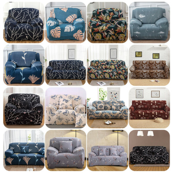 123 Seat Stretch Spandex Chair Sofa Couch Cover Elastic Slipcover Protector US $8.92