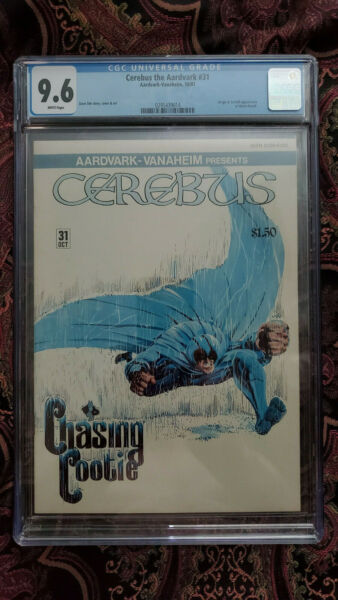 CEREBUS THE AARDVARK 31 CGC 9.6 ORIGIN MOONROACH - White Pages