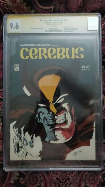 Cerebus the Aardvark #54 CGC 9.6 - 1st Full Wolveroach signed by Dave Sim