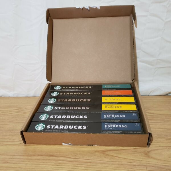 Starbucks Nespresso Variety Pack Capsules 60 Count New Sealed Best by 9 21 20