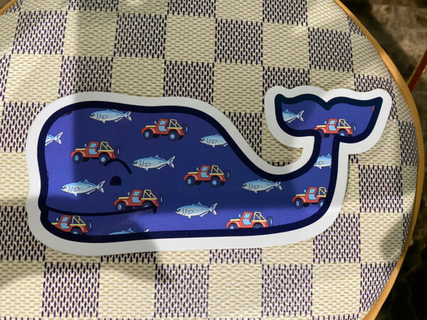 NEW VINEYARD VINES Whale Jeep amp; Fish 20 Years WHALE STICKER $7.50