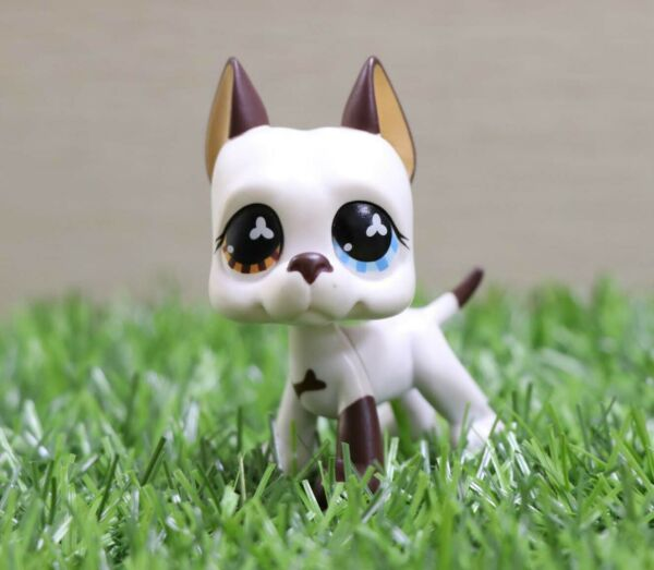 Authentic Pet Shop LPS Great Dane 577 White Dog Figures Toys Kid's Gift
