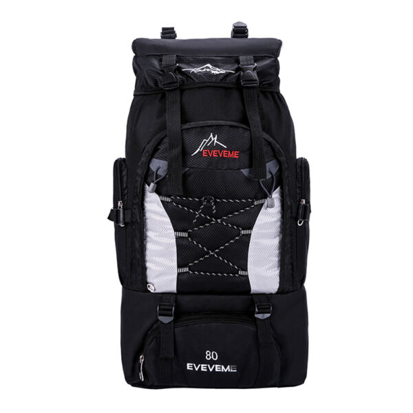 80L Waterproof Outdoor Sport Hiking Camping Travel Backpack Daypack Rucksack Bag $21.98