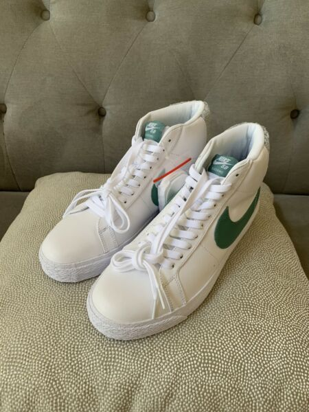 Nike SB  Blazer Mid Premium Shoes Sneakers White Bicoastal CJ6983-100 Size 10.5