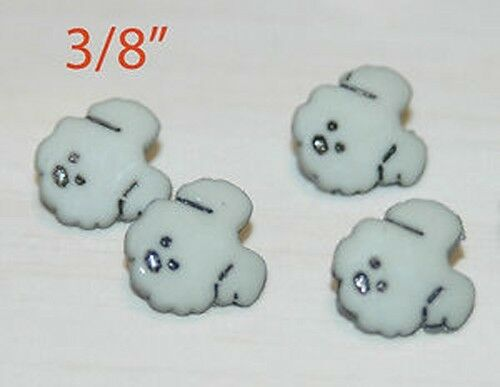 15 Grey Dog Sewing Buttons 3 8quot; $2.99