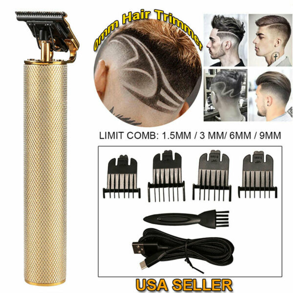Pro T-outliner Skeleton Cordless Trimmer Hair Clippers Machine USB Rechargeable $36.99