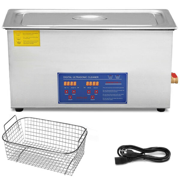 New 30 Liter Ultrasonic Cleaner Stainless Steel Industry Heat Heater w Timer $240.00