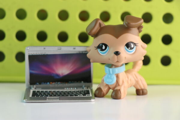 LPS Collie 893 Brown Pet Shop Dogs Figure Toy Kid's Gift