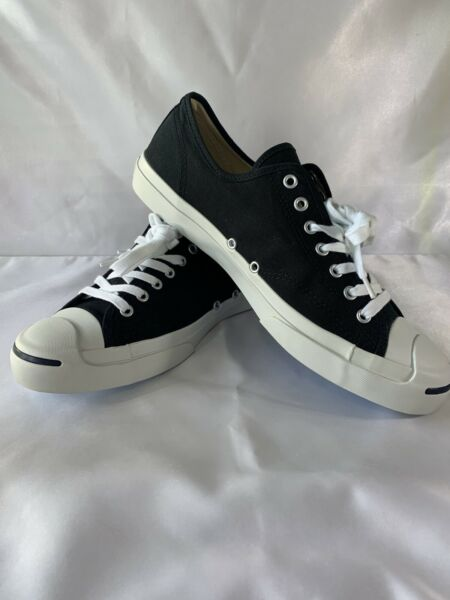 New Converse Jack Purcell Low Top Canvas Shoe Black/White US Men 11.5 / W13