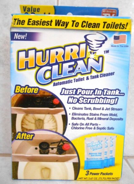 HURRICLEAN AUTOMATIC TOILET & TANK CLEANER  (VALUE 3 PACK) $10.79