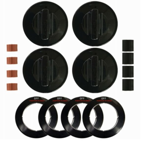Range Kleen 8214 Gas Replacement Knob Kit for Ranges Black