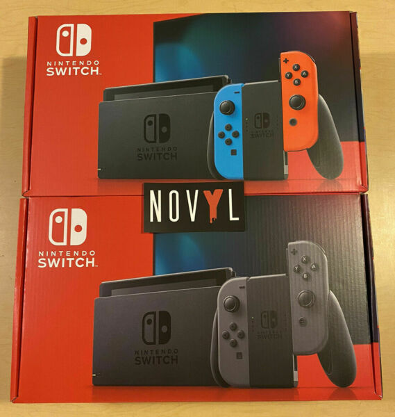 NEW Nintendo Switch wNeon Blue & Red or Gray Joy-Cons 32GB (Choose Color)