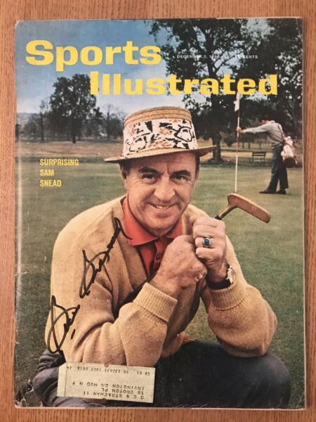 Sam Snead Signed - Autographed Sports Illustrated 61156 JSA Authentication