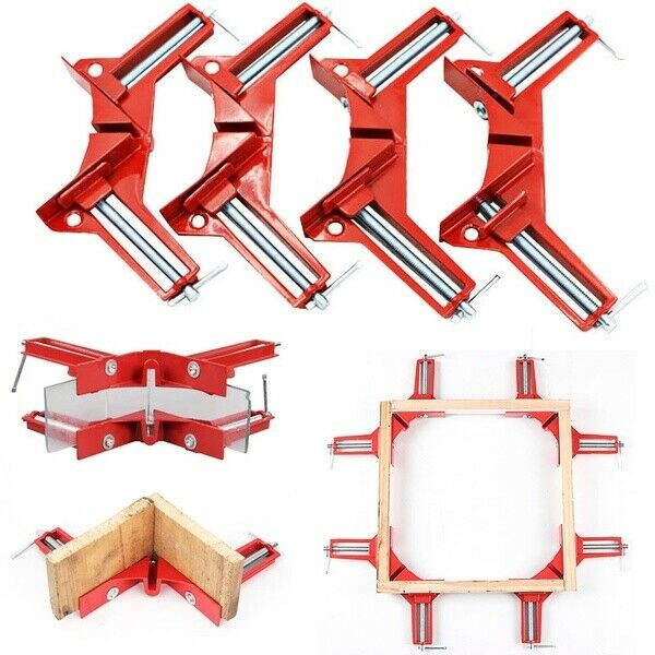 4pcs 90 Degrees Right Angle Clamp Right Angle Woodworking Frame Clamp DIY