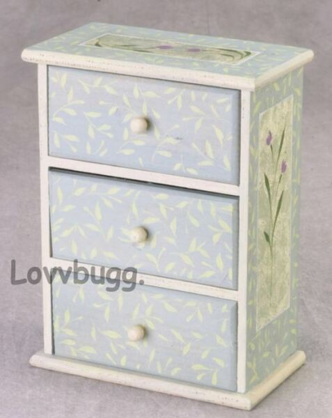 Tulips Chest of Drawers Furniture for American Girl 14 to 18quot; Doll LOVVBUGG 🐞 $27.99