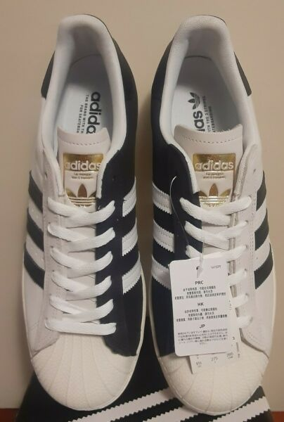 Adidas Superstar Sneakers/Shoes Shell Toe Mens Size 9.5 New With Box And Tags