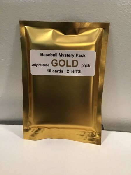 10 RANDOM Mint Condition BASEBALL CARDS GOLD PACK 10 cards 1 Auto 1 Relic 🔥 $24.99