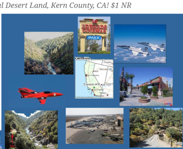 KERN COUNTY, .25 ACRES RESIDENTIAL LAND-NO RESERVE!