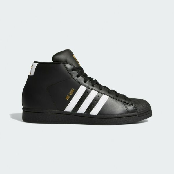 New Adidas Men's Originals Pro Model Shoes (FV5723)  Black // White-Gold Foil