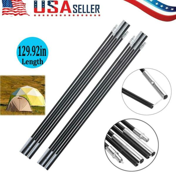 Fiberglass Camping Tent Pole Bars Awning Support Rod Outdoor Sunshelter
