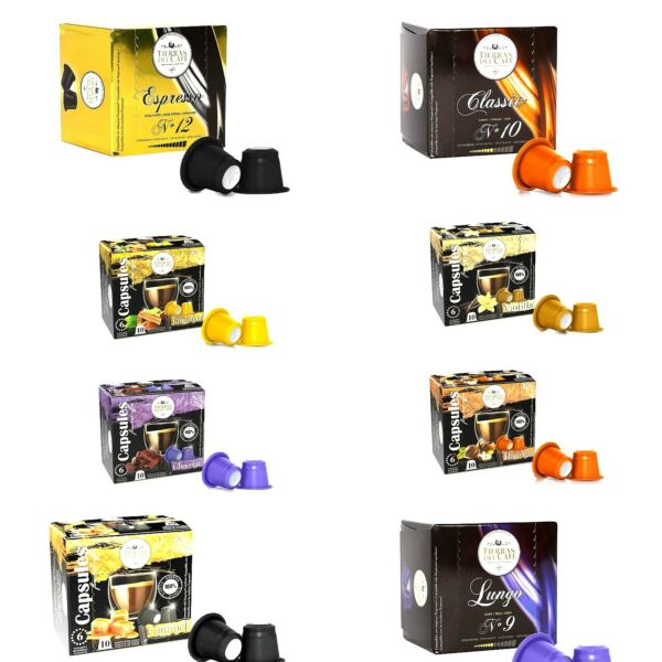 Nespresso Compatible Coffee Capsules Regular and Flavored EspressoPods Variety