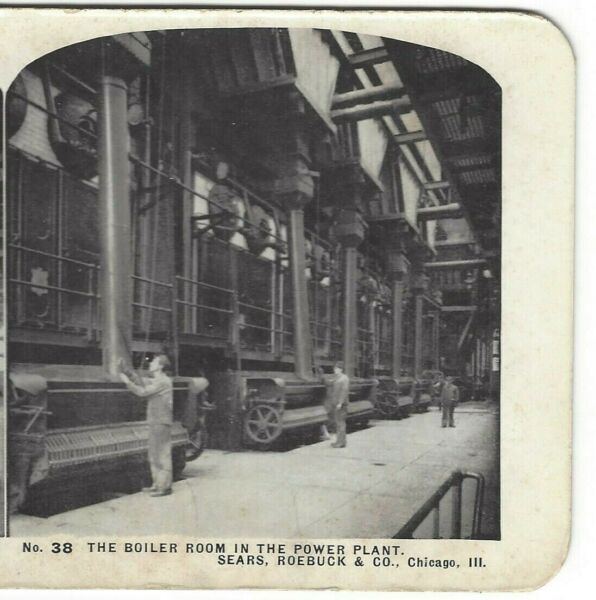 The Boiler Room in the Power PlantSears Roebuck Chicago Illinois Stereoview $4.01