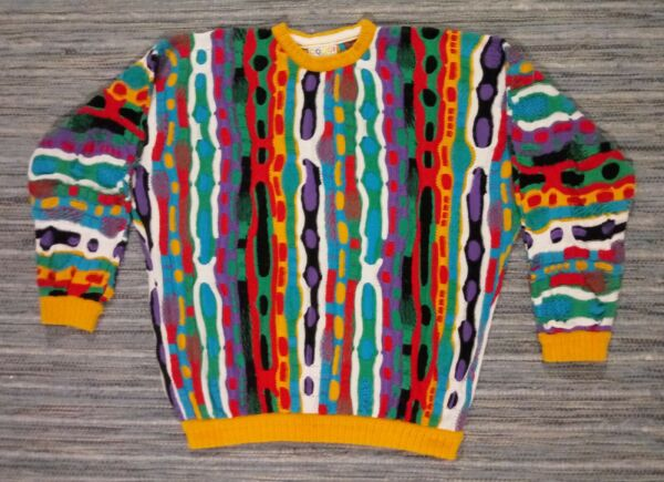 Coogi Sweater Cosby Biggie Sytle XL Made in Australia $400.00