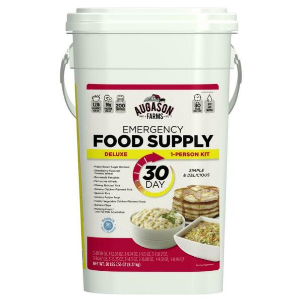 Emergency Food Supply Bucket Prepper Storage 30 DAY Rations Kit 200 Servings