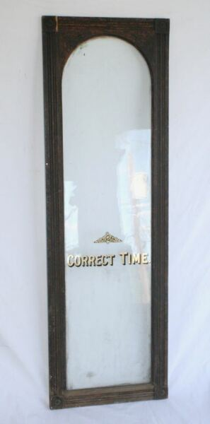 Antique CORRECT TIME Arched Window Wood Door. Victorian Hand Crafted UNIQUE $295.00