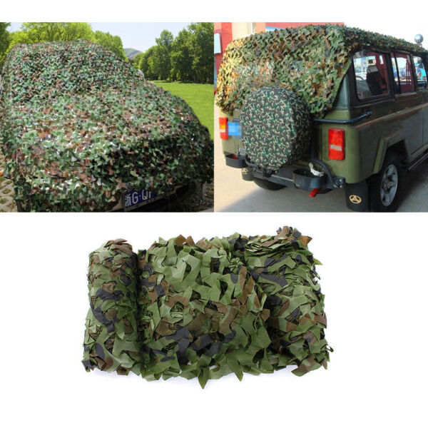 32.8ft x 5ft Woodland Leaves Military Camouflage Net Hunting Camo Cover Netting $29.88