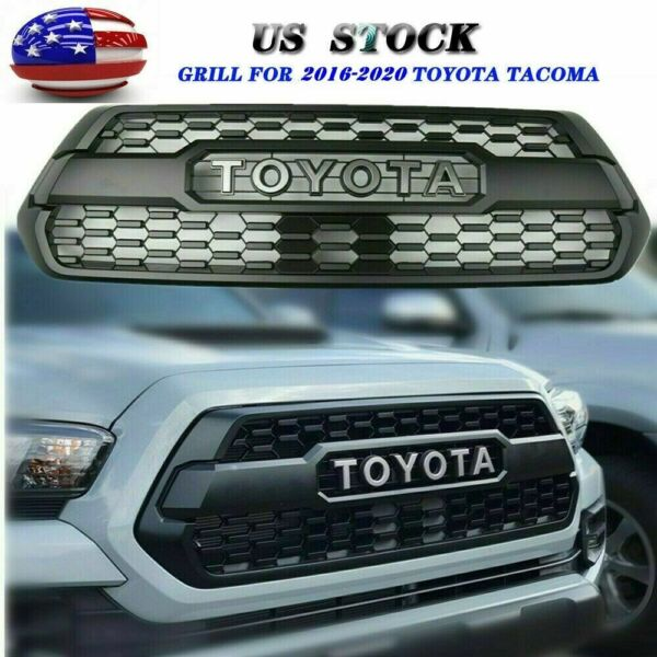 Grille For 2016 2020 Tacoma Hood Grille Black Front Bumper With Letters