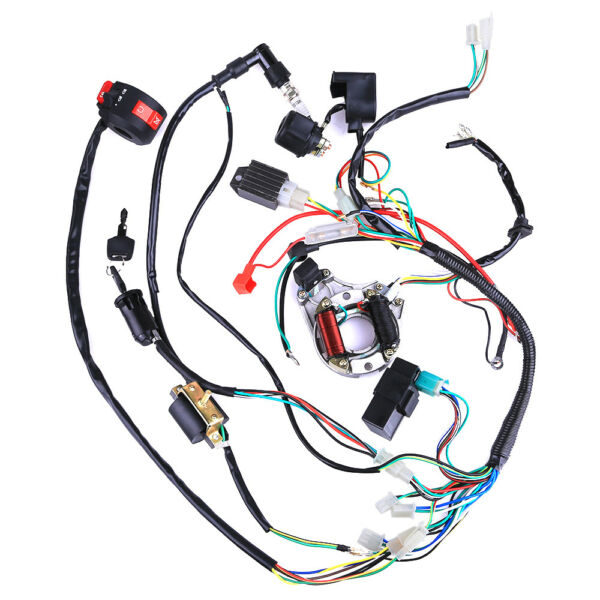 50cc 110cc CDI Wire Harness STATOR Assembly Wiring Kit Electric Quad ATV Parts $79.99
