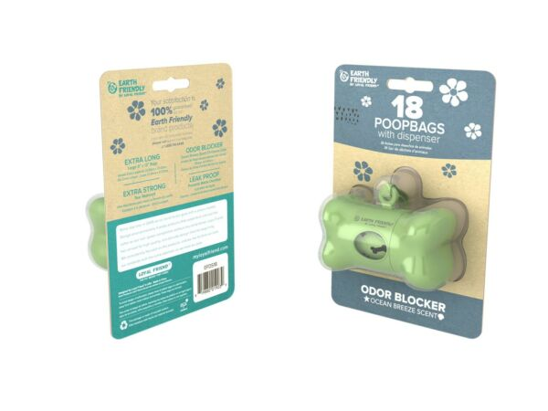 Earth Friendly Dog Waste Bag Dispenser With 18 Counter Lavender Scented Bags $9.00