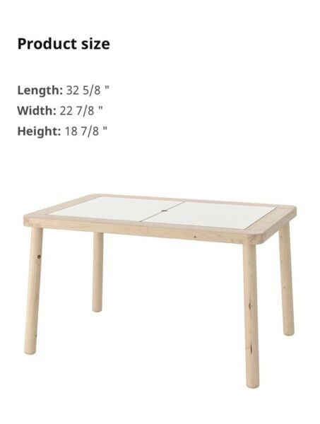 IKEA Flisat Table New In Box. Sensory Kids Table Made In Poland Birch