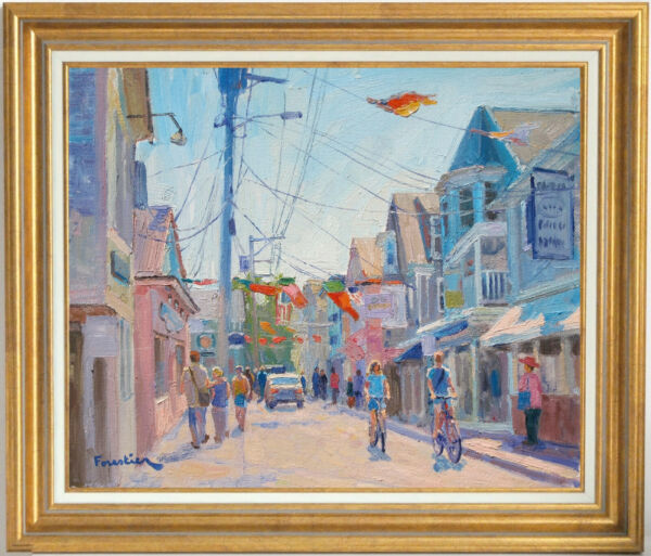 SUMMER DAY IN PROVINCETOWN~LISTED ARTIST~ORIGINAL OIL PAINTING BY MARC FORESTIER