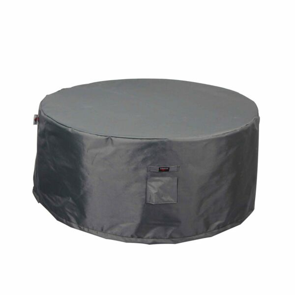 Shield Titanium 3 Layer Outdoor Fire Table Round Covers Dark Grey $62.10