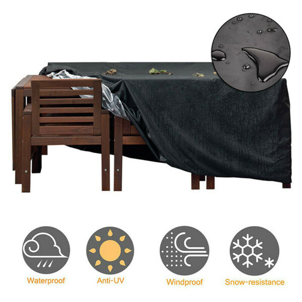 Waterproof Dustproof Patio Furniture Covers Outdoor Rectangle Table Rain Cover $26.59